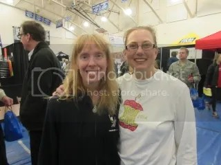 Me with Jennie at the Charleston Marathon Expo!  So great to meet one of my Hard Core Runners!