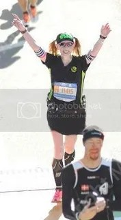 Me crossing the finish line of the TCS New York City Marathon - New York, New York