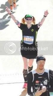 Me crossing the finish line of the TCS New York City Marathon - New York, New York