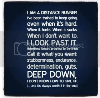 I am a distance runner...
