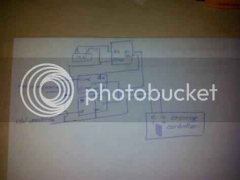 Arduino, zonnepaneel, accu, voeding, charge controller en relais