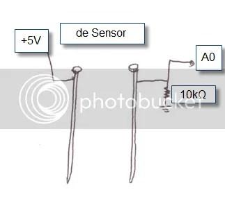 De zelfgemaakte vochtigheidssensor (diy soil humidity sensor)