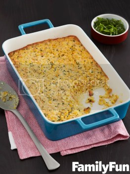 corn and chive pudding