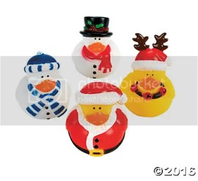 Oriental Trading Holiday Rubber Duckies