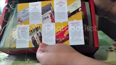 Snack box card