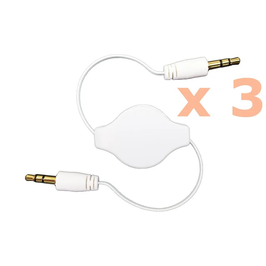 3 5mm Retractable Aux Cable Stereo Audio Male To Male