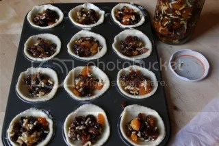 Pastry circles with mincemeat filling