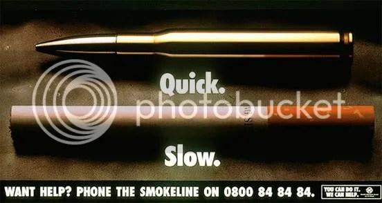 التدخين والرصاصة
