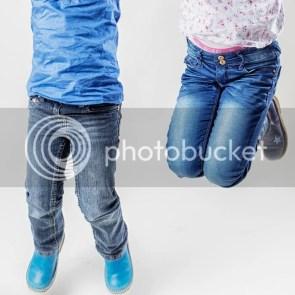 Springende voeten foto