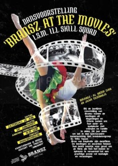Poster dansvoorstelling Bransz at the movies