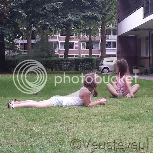 Buiten op het gras
