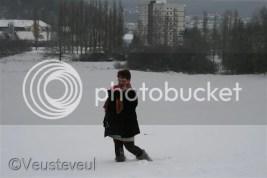 Dragen in de sneeuw!