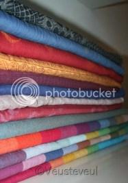 Dragen met draagdoeken, verschillende kleuren, merken, printjes en materialen
