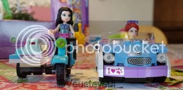 Motor en auto van Lego Friends