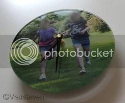 Moederdag cadeau - mooie klok van dikker glas met foto!