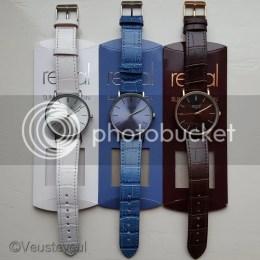 Mijn drie nieuwe horloges... Regal Slimline wit, blauw en bruin gekocht bij Lucardi!