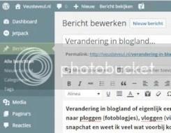 Verandering in blogland