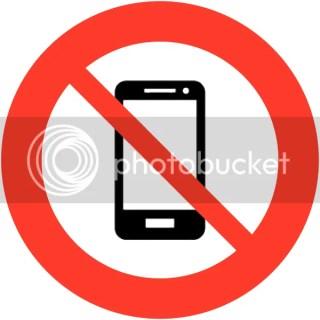 Verboden mobiele telefoon of mobiel bellen