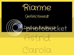 Winactie - de uitslag Rianne heeft rokje maat 110/116 gewonnen!