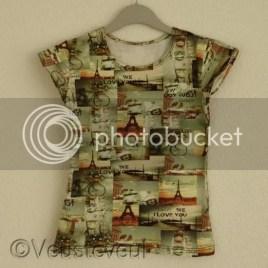 Zelf kleding maken - parijs shirt met korte mouw
