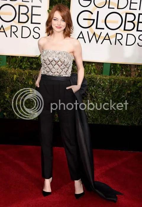 Emma Stone, Golden Globes, 2015, Lanvin