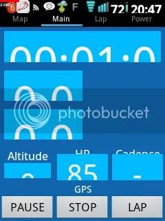 BigFontで表示文字を強制的に大きくした状態でQVGA画面のX10 MiniでSelfloopsを走らせると悲しい表示に