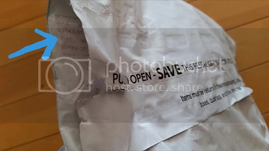 米アマゾンからのパッケージで感心したのは、同じ袋で返品できるように、開封後にもシールを剥がすことで接着面が現れ、再度袋を閉じられるようになっていたこと。