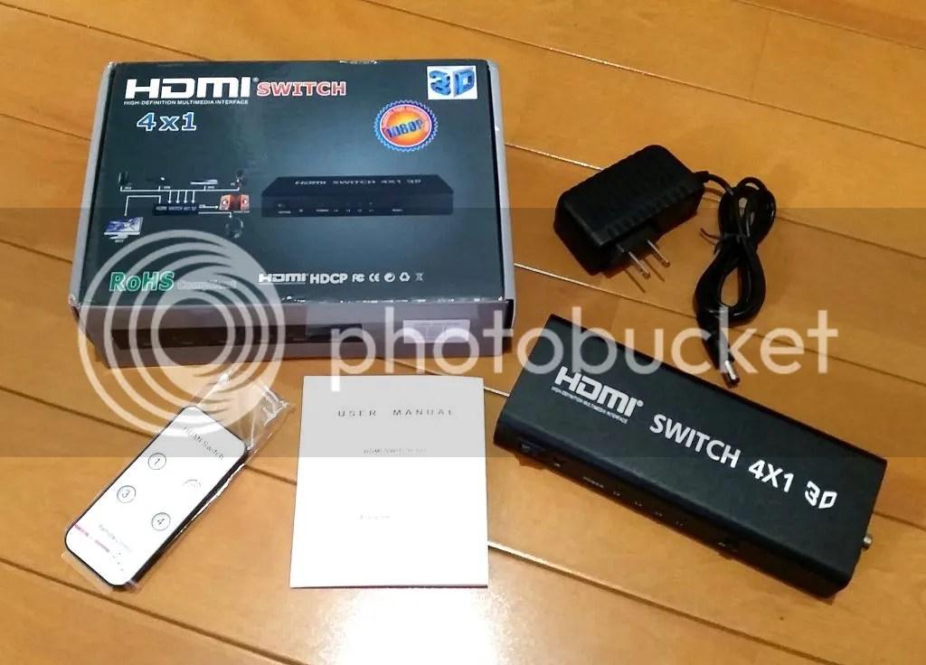 AliExpressで$23.99で買ったHDMIセレクタHS41AD