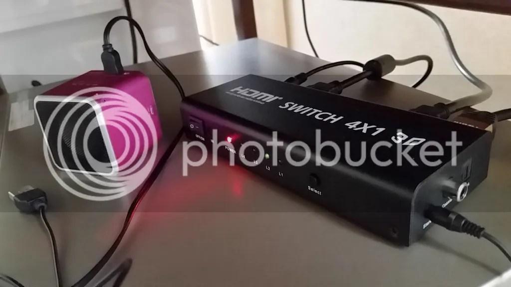 4入力1出力のHDMIセレクタ HS41ADからアナログ音声を外付けスピーカに出力