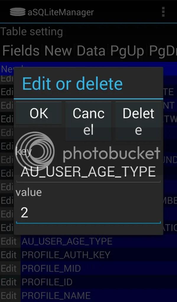 /data/data/jp.naver.line.android/databases/naver_lineデータベースファイルのsettingテーブルの中身を変更する