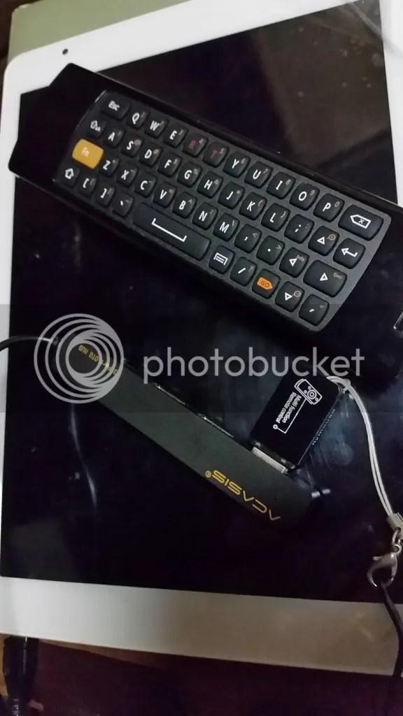 タブレットにUSB無線ポータブルキーボードを繋いでBIOSメニューを操作