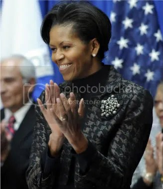First Lady Michelle Obama at the Transportation Dept