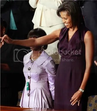 First Lady Michelle Obama in Narcisso Rodriguez