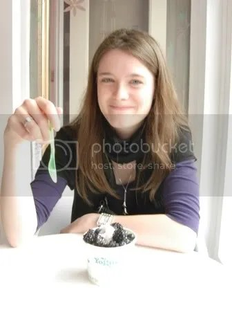 Me, enjoying my FroYo