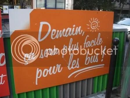 Un joli panneau à côté dun chantier à Paris - novembre 2006
