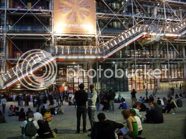 Au Centre Pompidou la nuit de la Fête de la Musique - juin 2007