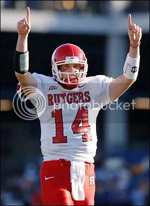 Rutgers QB Mike Teel...victorious tonight?