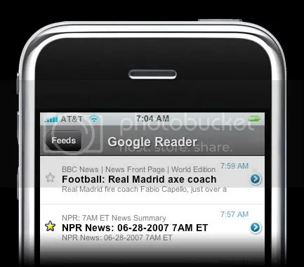 Google reader na iPhoneu