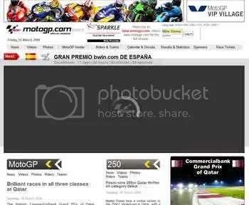 new MotoGP website