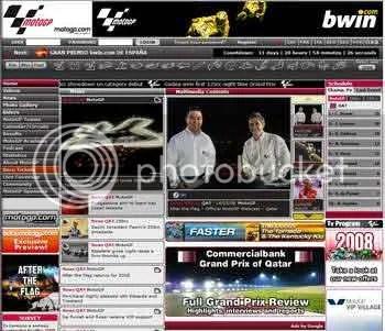 old MotoGP website