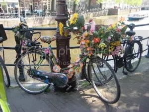 Bike with a floral theme
