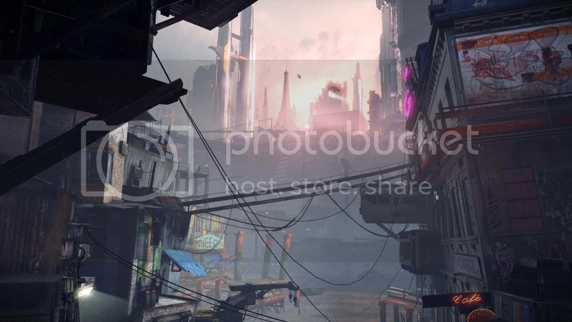 Early morning in the slums.