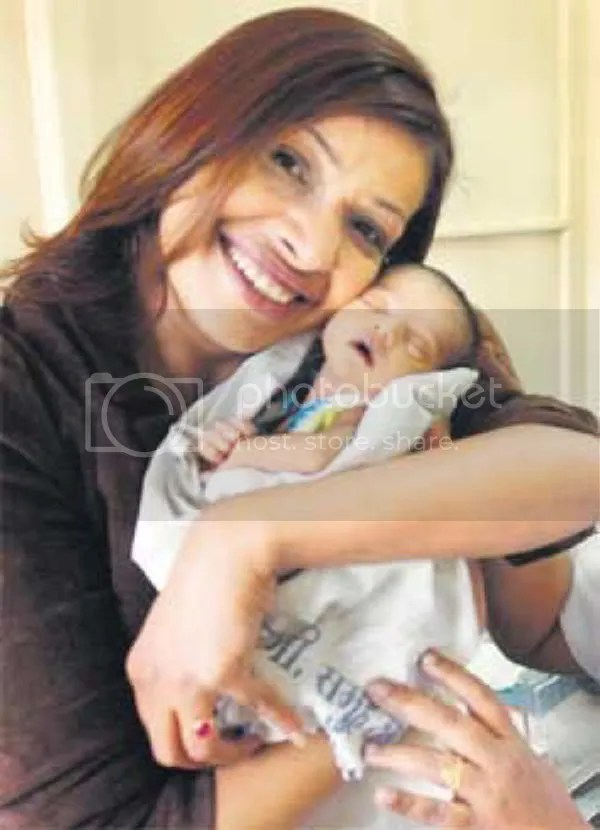 Achala Sachdev with Baby