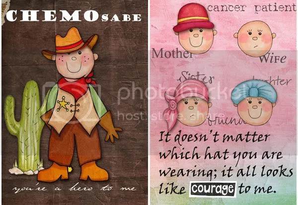 "Cards for cancer patients created by Beth Cain using ""Beth's Belief"" - a free digital scrapbooking kit from Kate Hadfield Designs"