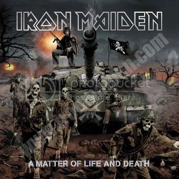 Tim Bradstreet cover for Iron Maiden's A Matter of Life and Death