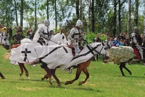 Battle of Grunwald, July 15th, Every Year. The Holy Monks Moments Before Their Demise.