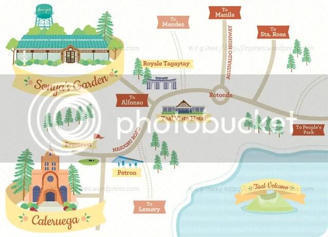 Map to Tagaytay
