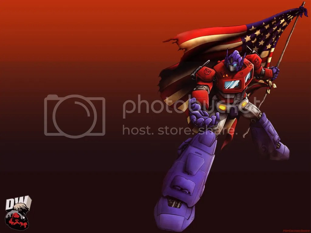 Optimus Prime Patriotic Wallpaper Image