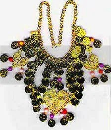 Yellow and Black Egyptian Necklace