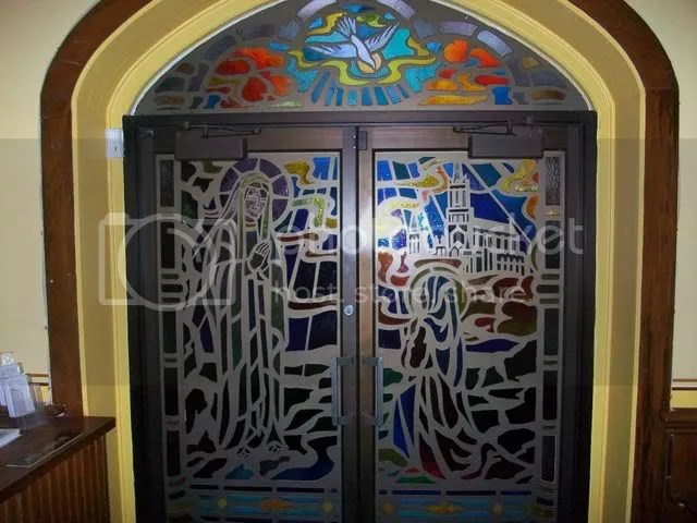 Stained Glass Doors at Chapel